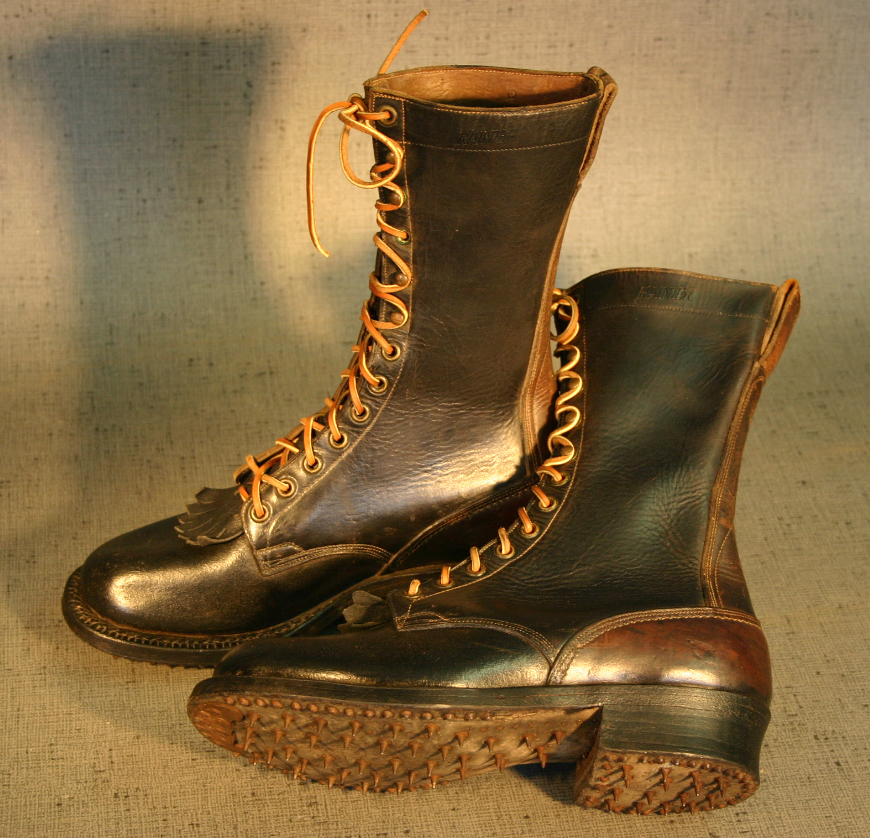 "Vintage ""Ranier"" Logging Boots"