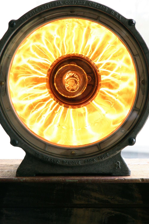 Vintage Pyle National Flood Light with Mercury Glass Reflector