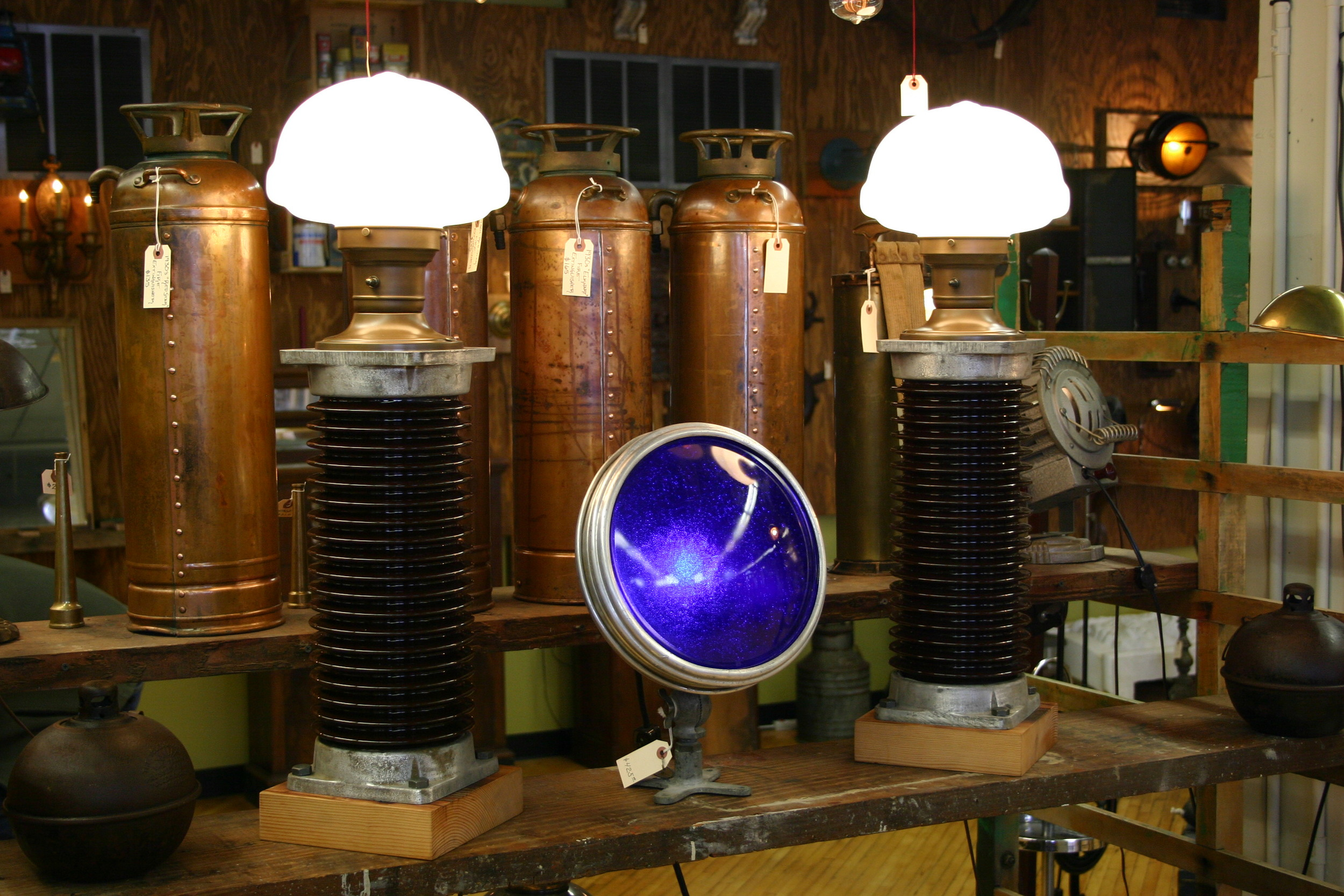 Tesla Electrical Insulator Lamps