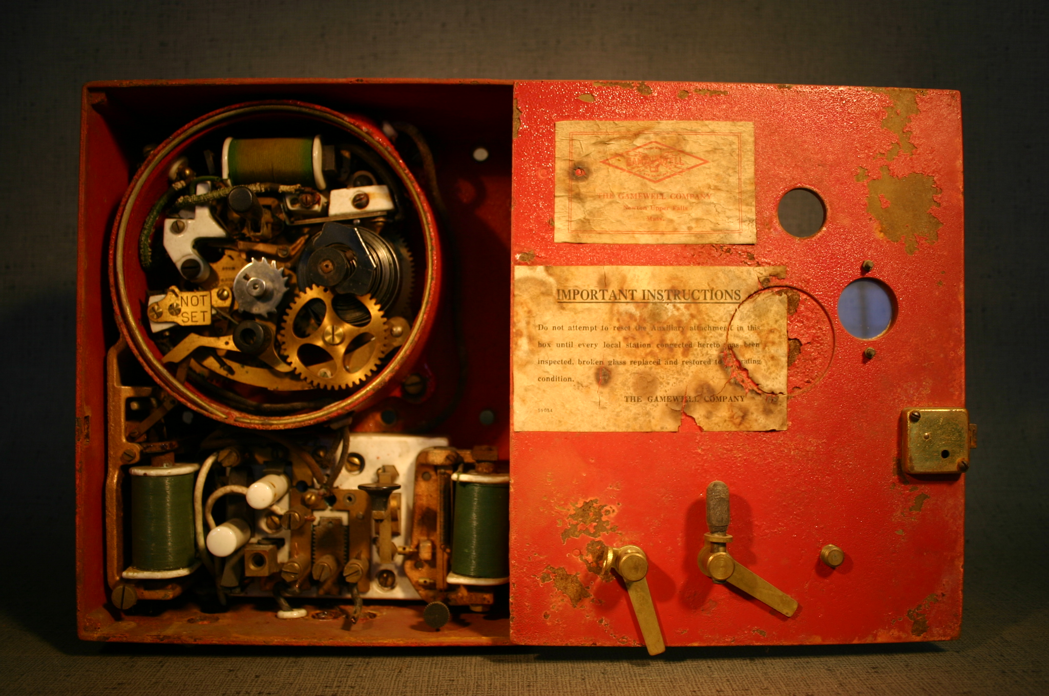 Antique Gamenell Alarm Mechanism
