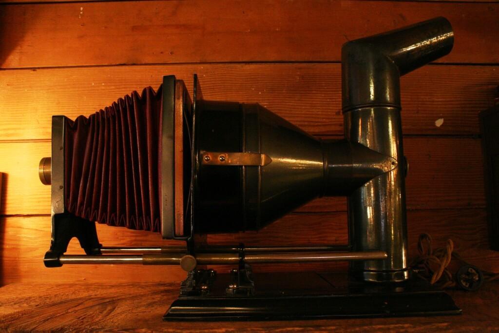 Antique Burke & James Glass Slide Projector