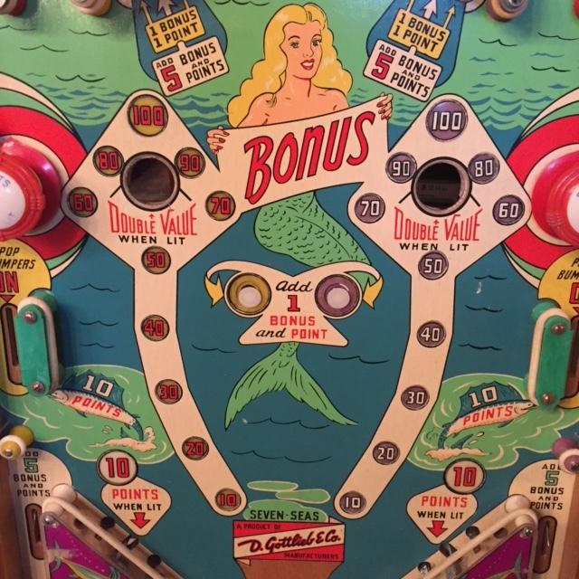 "1959 ""Seven Seas"" Playfield Detail"