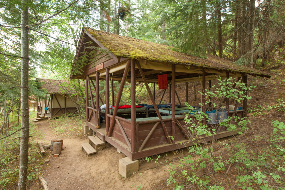 Our Sweyolaken campout sleep shed.