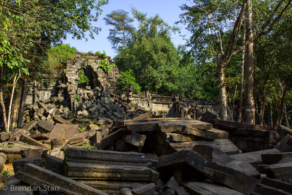 Beng Maelea is far from the crowds and renovation efforts of the main Angkor temples. The jungle is slowly over-taking the temple, giving it a unique, just-discovered feel.