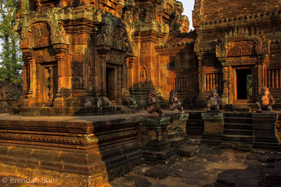 Banteay Srei, one of the best-preserved structures in Angkor