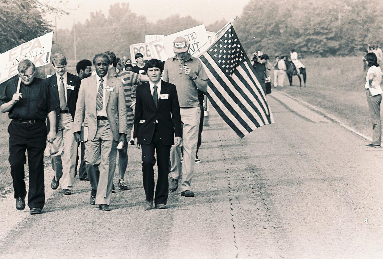 Protestors in Warren County, North Carolina (1982). Image credit:ncpcbarchives.com