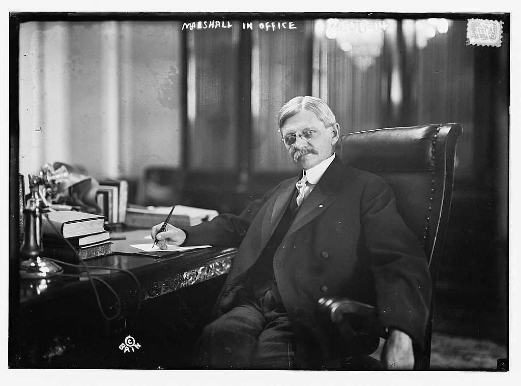 Vice President Marshall in Office (1913). Library of Congress.