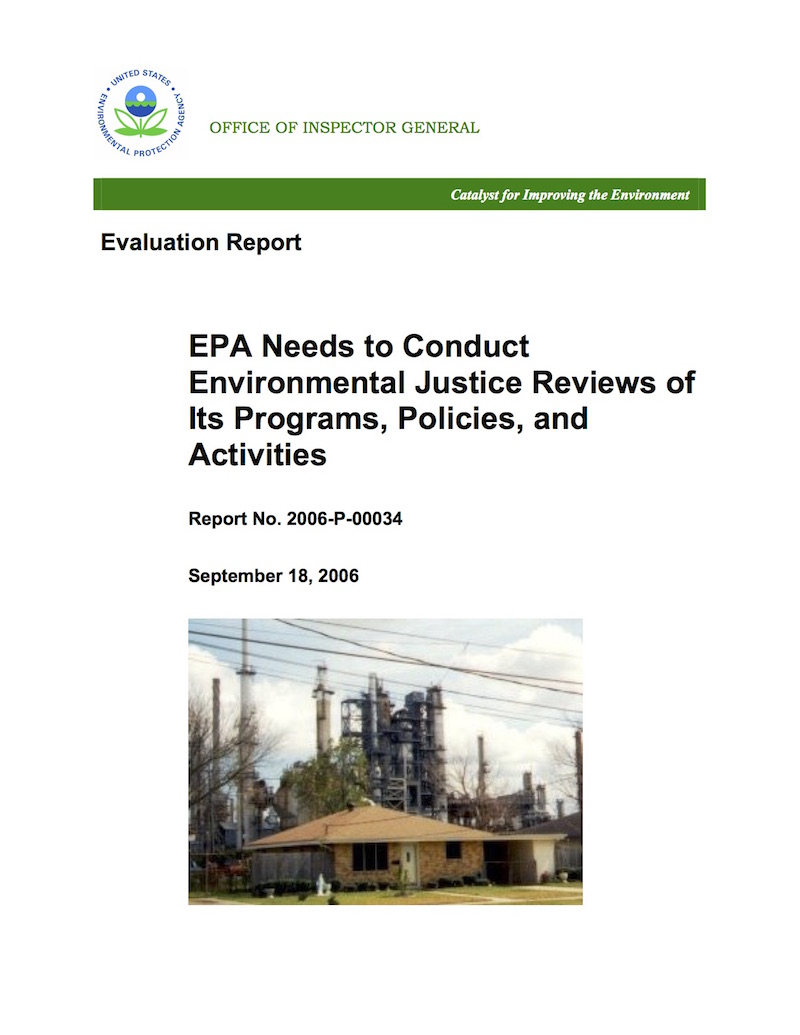 OIG Report No. 2006-P-00034