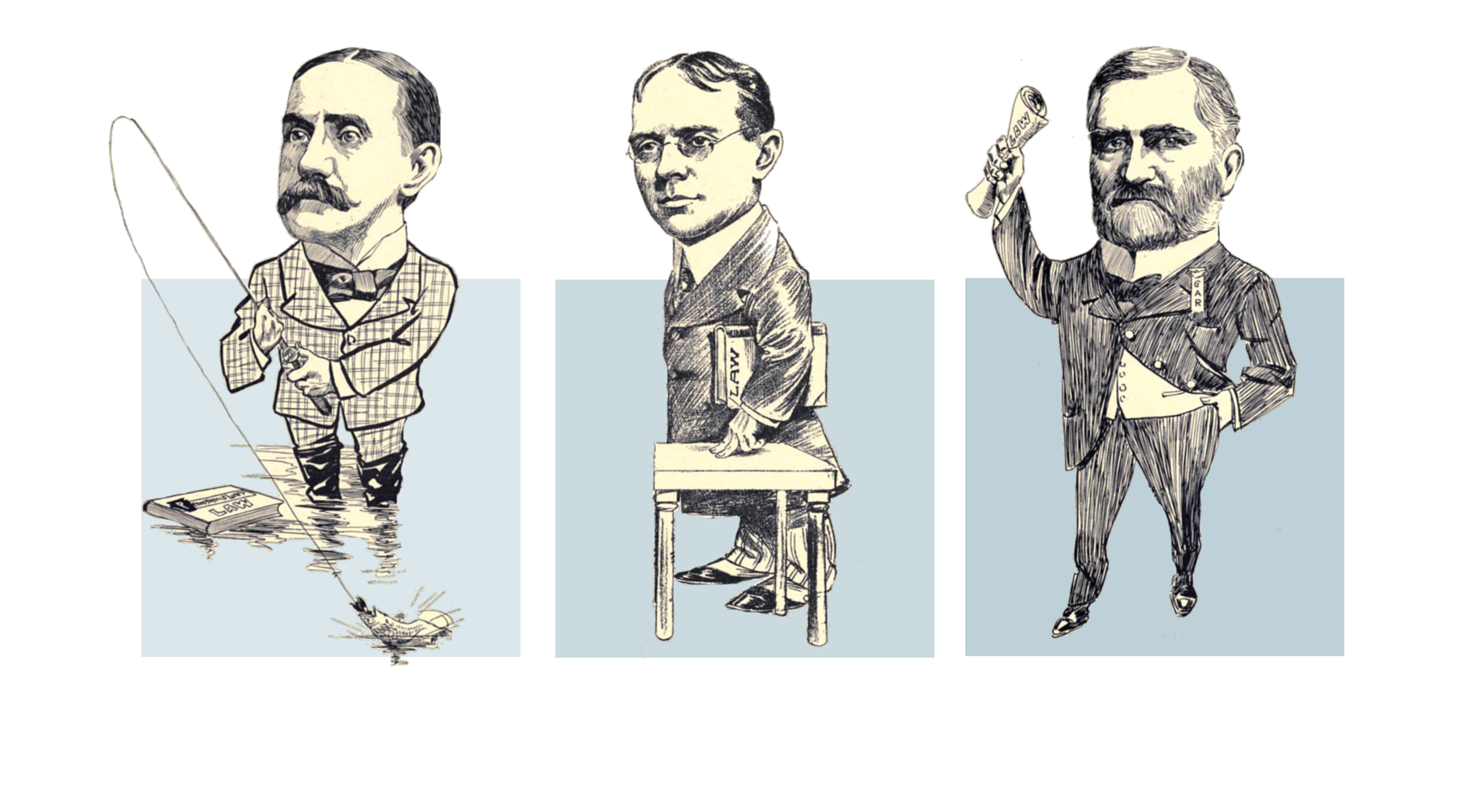 Samuel O. Pickens, Chas. W. Moores, Smiley N. Chambers (L-R) (Partners)