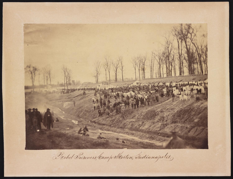 Rebel prisoners, Camp Morton, Indianapolis.