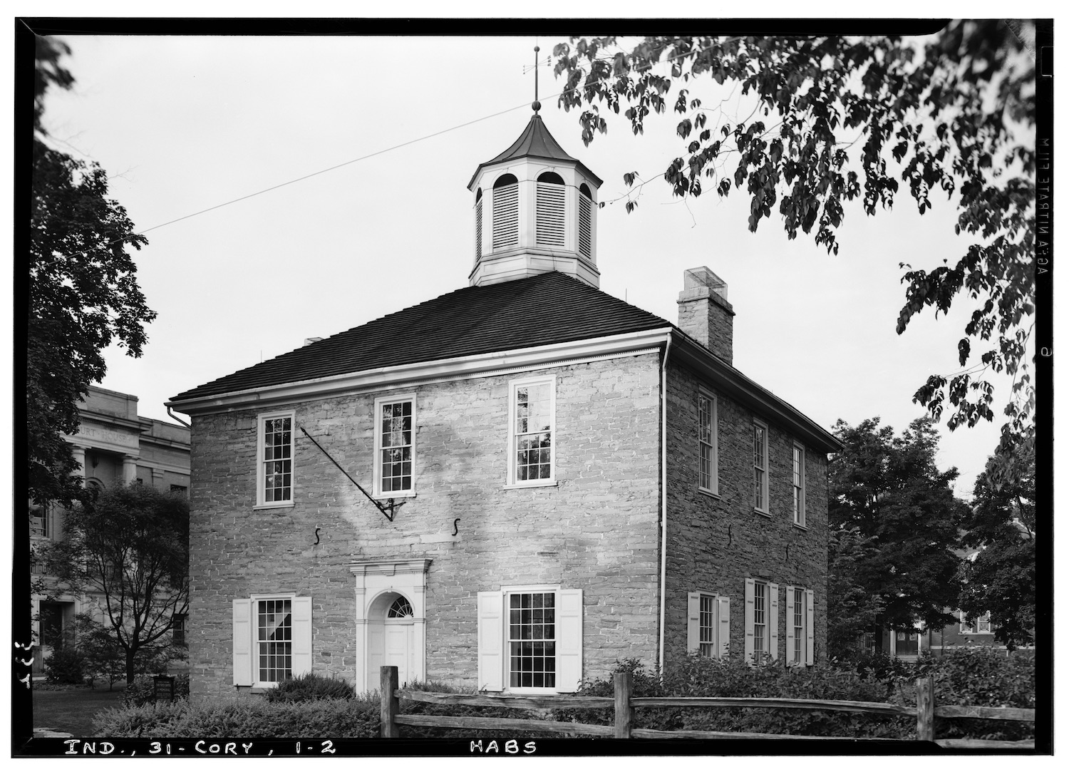 Courthouse at Corydon, Indiana. Image via Library of Congress.