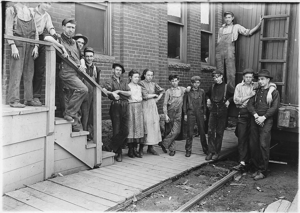 The Noon Hour at an Indianapolis Cannery, Indianapolis (1908). Photo by Lewis Hine via National Archives and Records Administration.