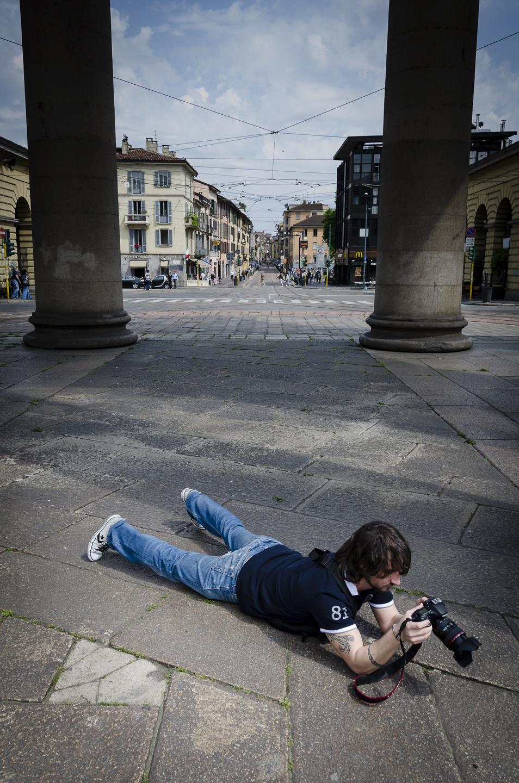 """""""Ritratto di Luca Camillo in creazione"""" - immagine di Alessandro Besana (abesana[at]aminstruments.com)"""