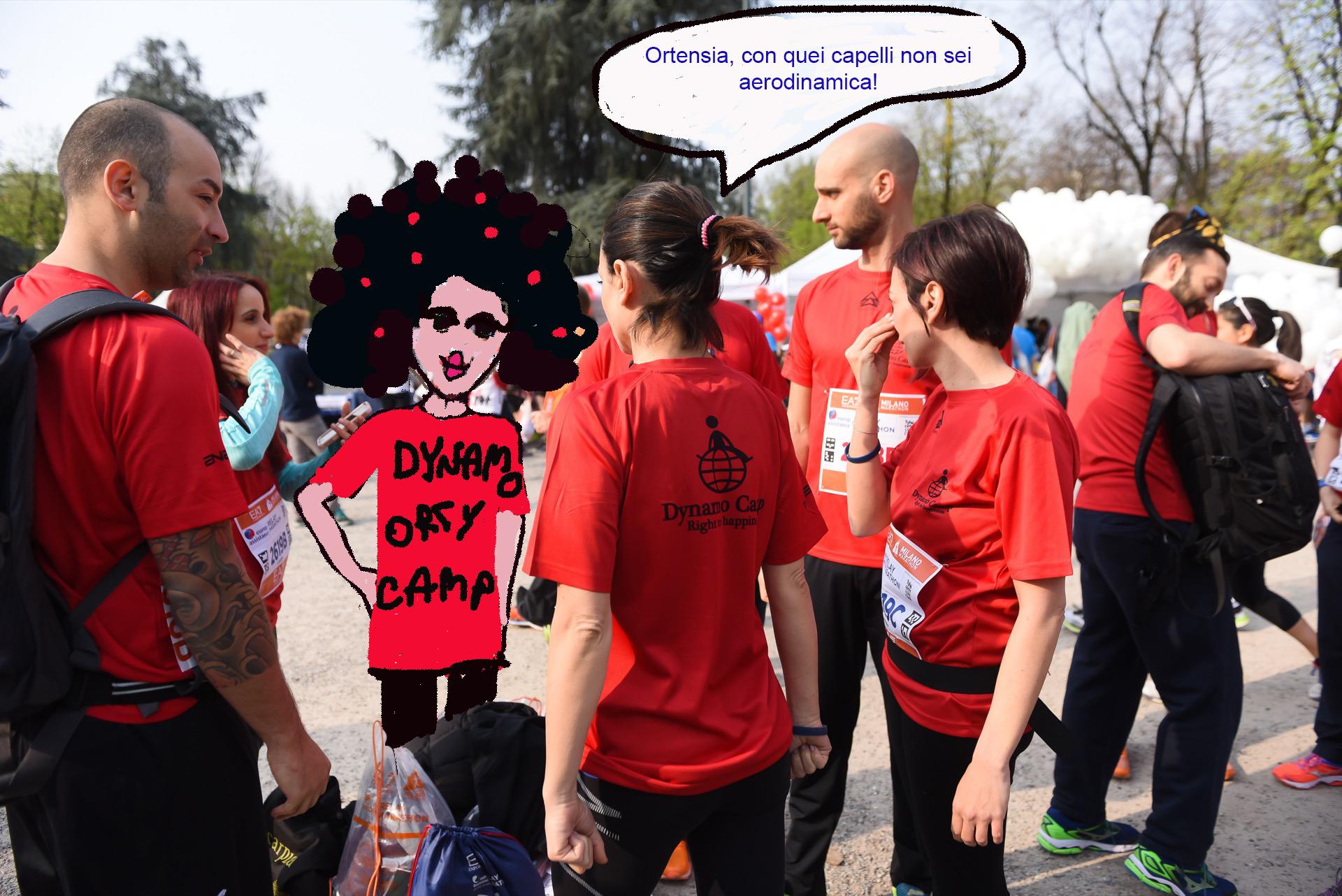 ORTENSIA ha partecipato alla maratona!!!!!! Ma i suoi colleghi avevano qualche dubbio….