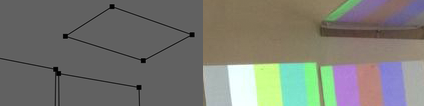 PERSPECTIVE CORRECTION MODE    How to adjust for non-perpendicular projection onto surfaces.