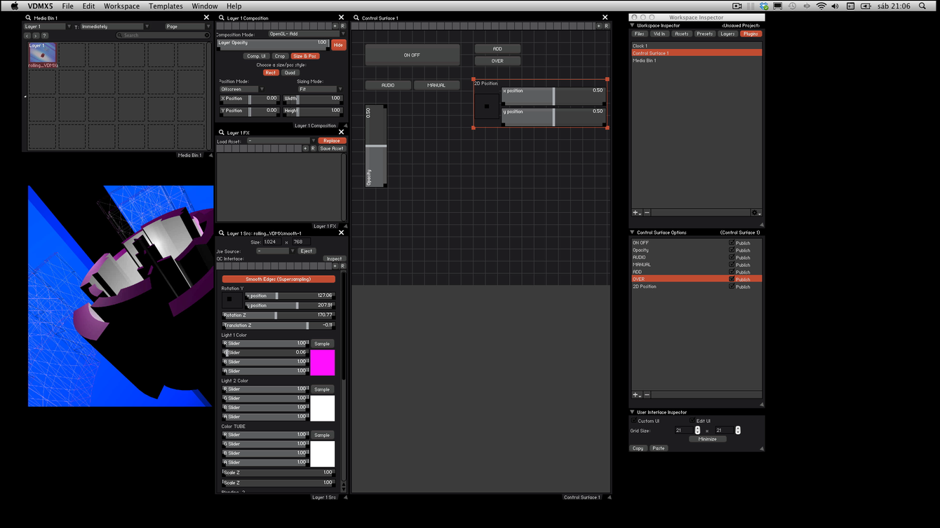 """It's possible to organize the differents things we add and resize it, turning on the """"Edit UI"""" checkbox in the UI Interface Inspector"""
