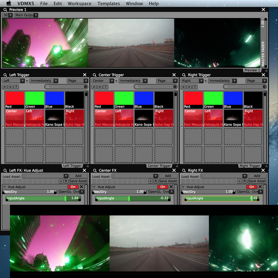 Setting up multi-screen video output.