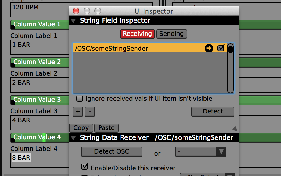 Advanced: The text fields for QC inputs can receive their string values over OSC - use the UI Inspector for setup.