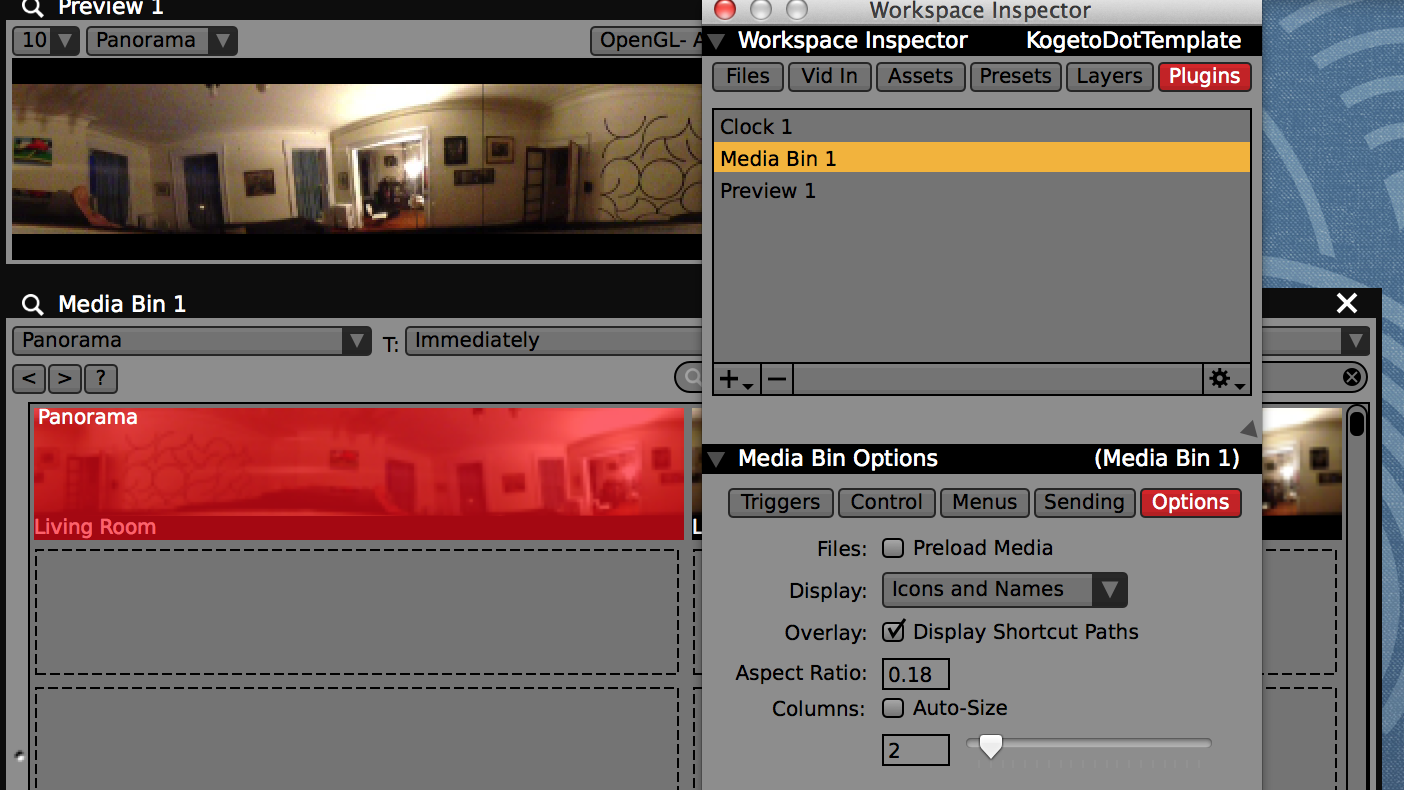 The thumbnail aspect ratio of each media bin plugin can be adjusted in its sub-inspector under 'Options'