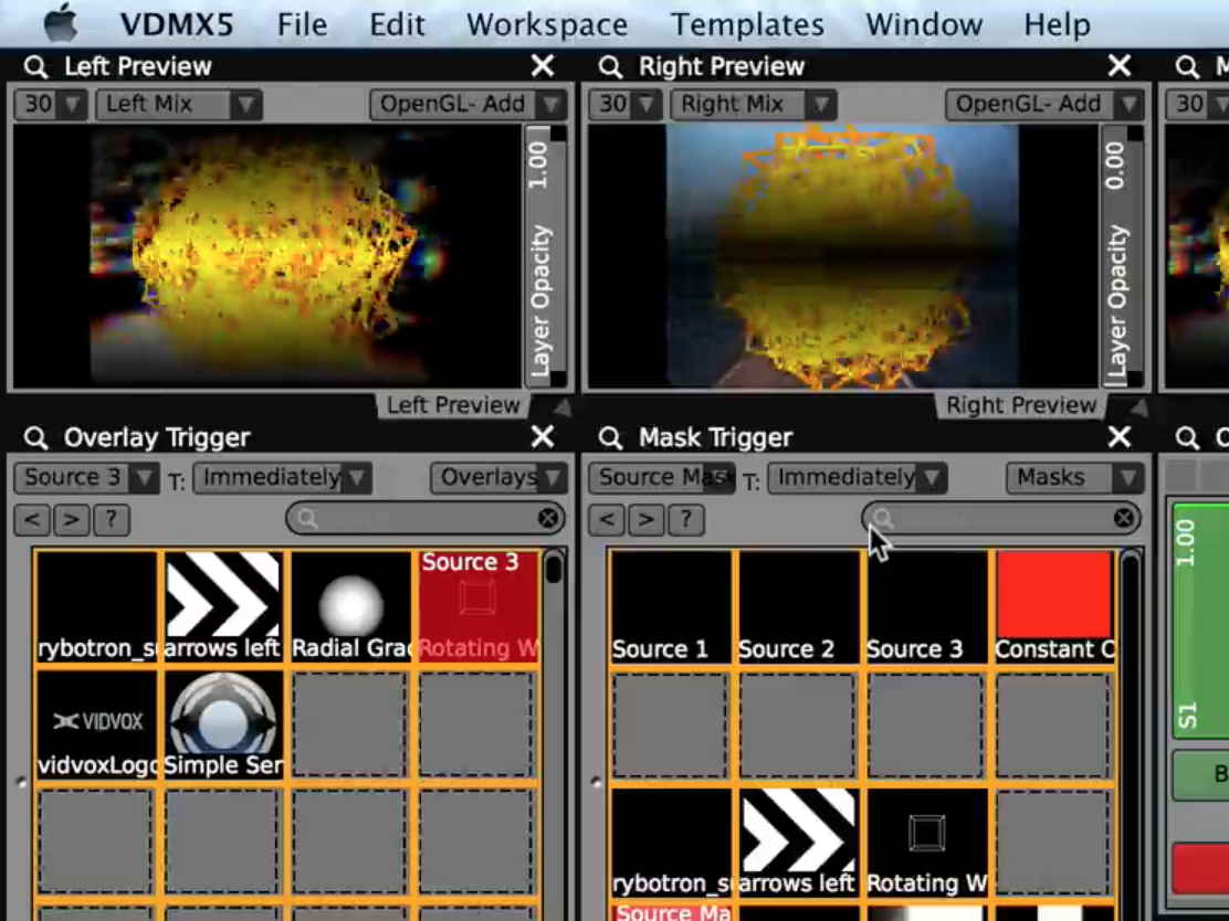 Create different variations using the same set of sources and apply layer masks to black out areas before mixing.