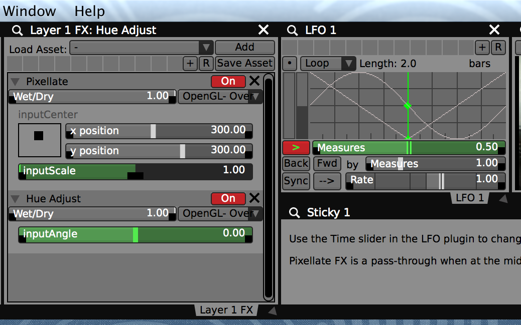 Use the data-sources from the LFOs to adjust the levels of one or more FX at a time with a single MIDI knob.