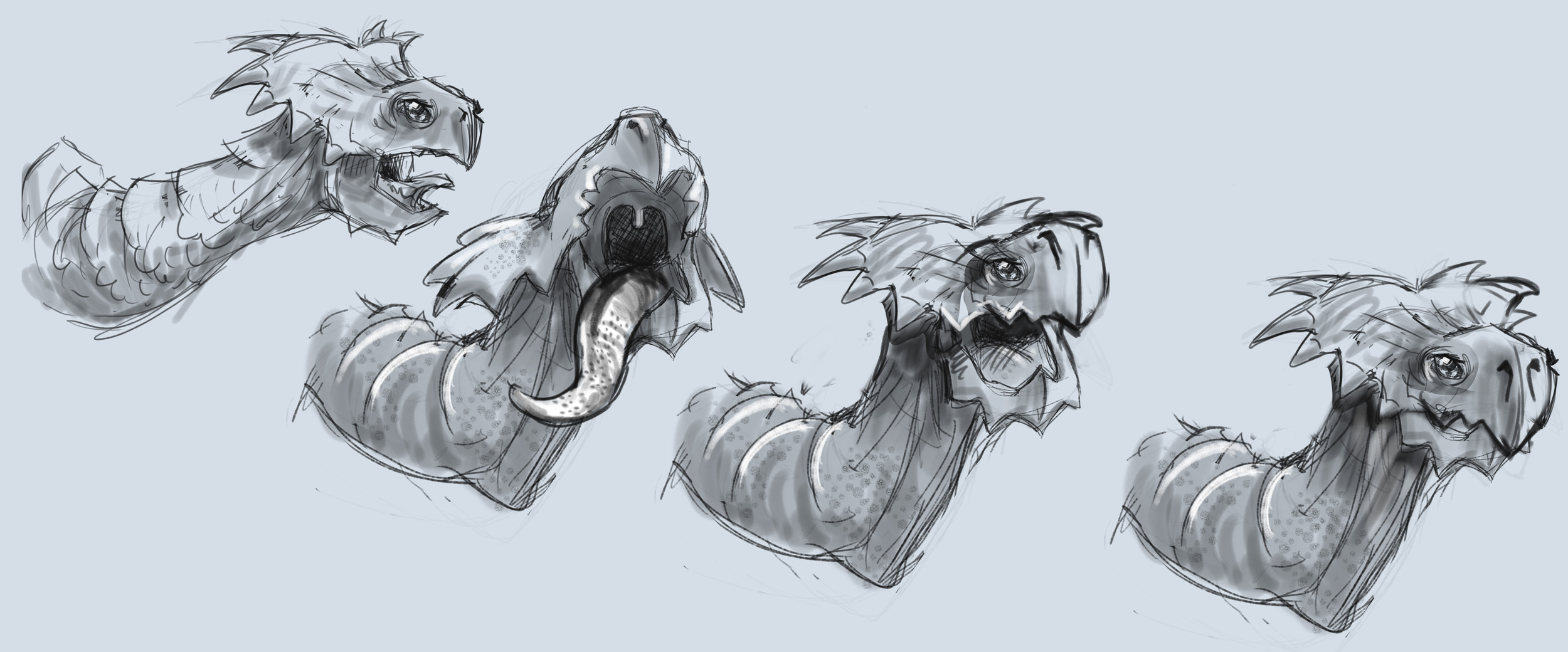 Turtle head concept sketches