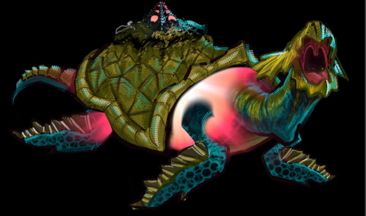 Turtle head digital drawing
