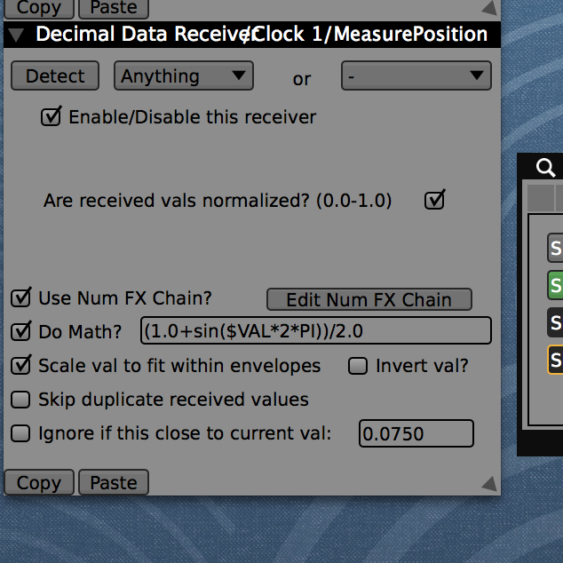 """The """"Do Math"""" option in the receiver sub-inspector allows for entering math expressions."""