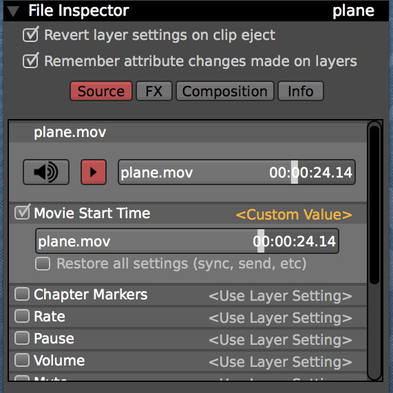 """Enable the """"Movie Start Time"""" attribute to resume movie playback."""