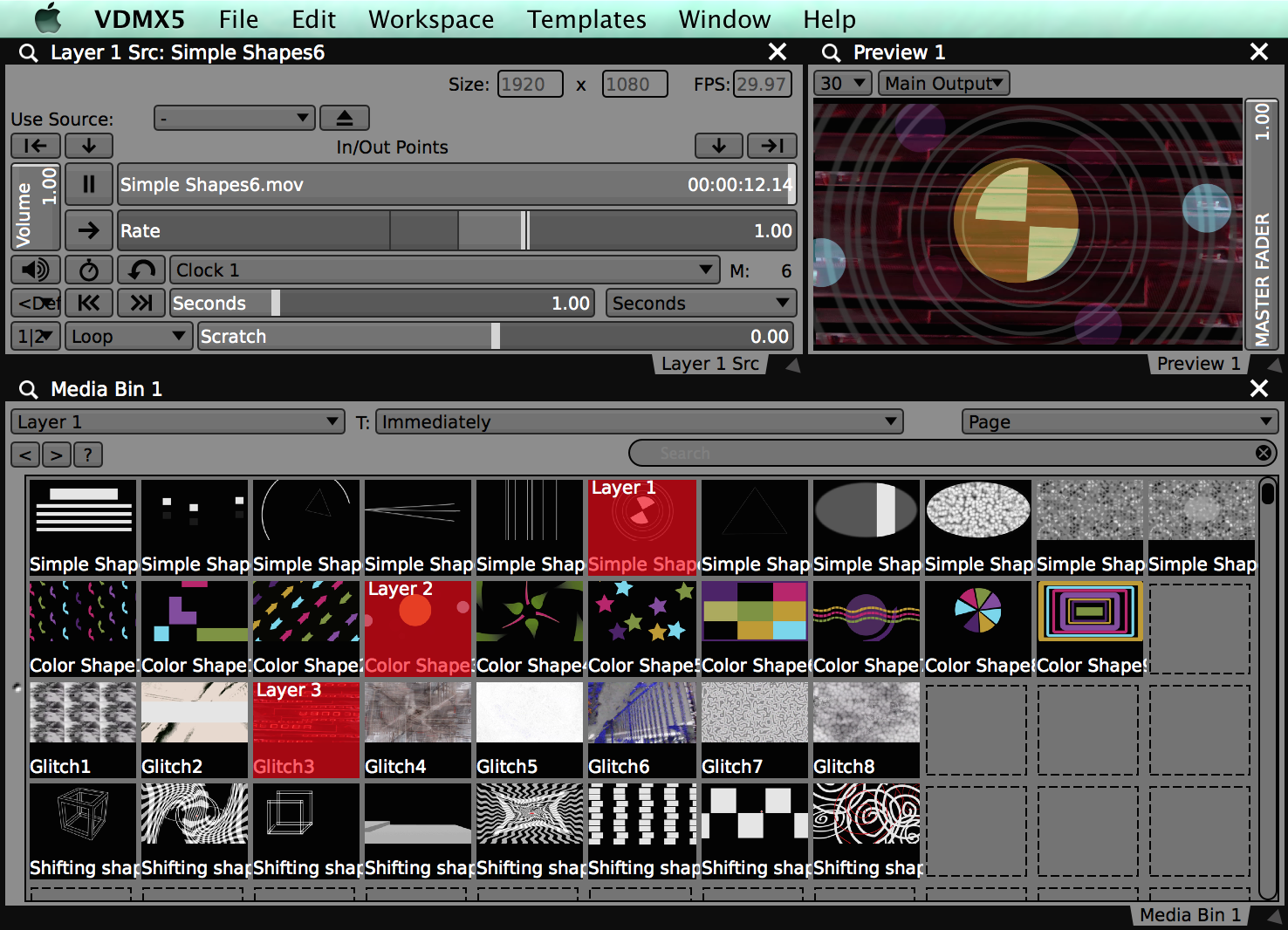 New video clips for your VDMX media bin