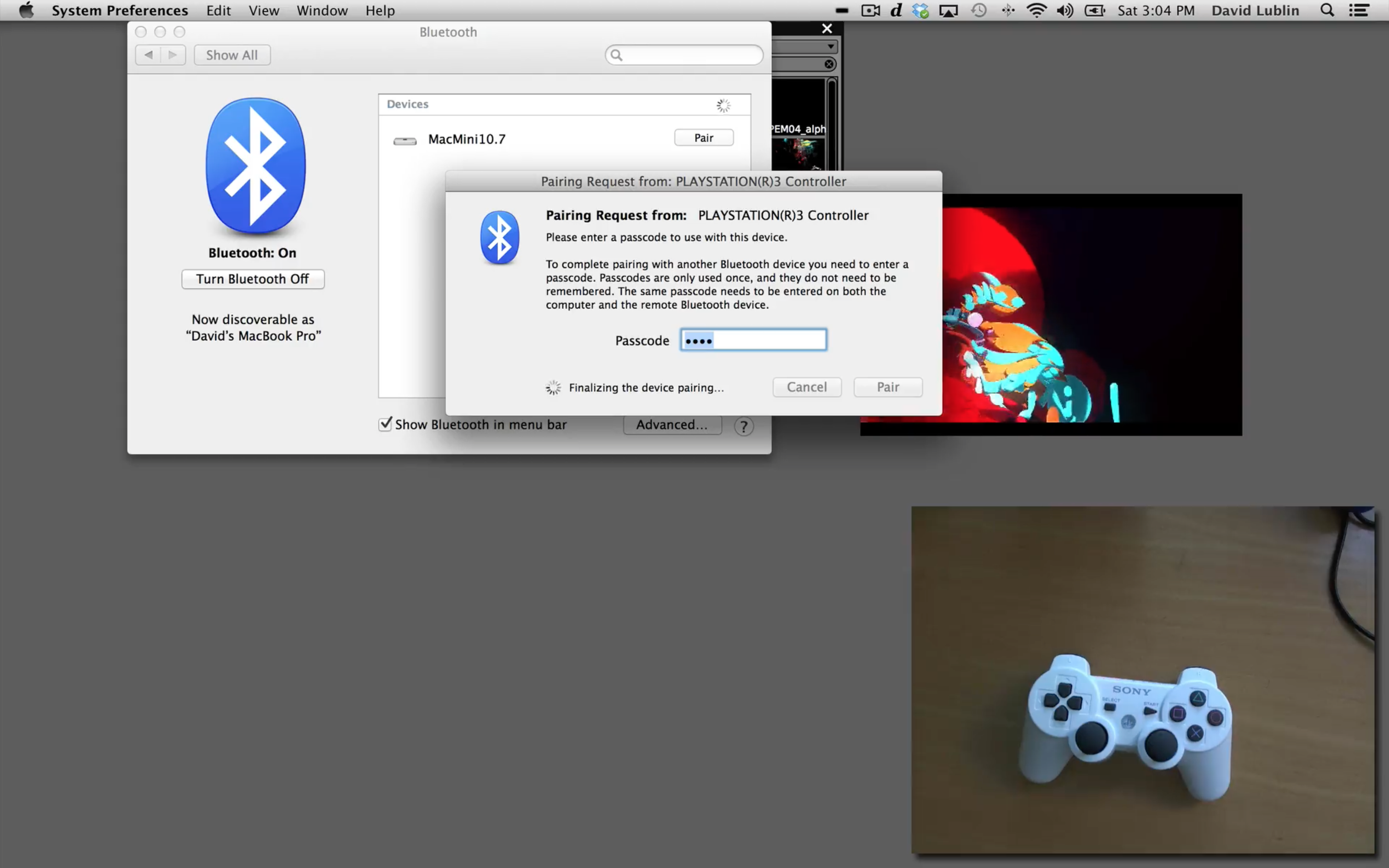 Pair Bluetooth HID and WiiMote controllers in the System Preferences.