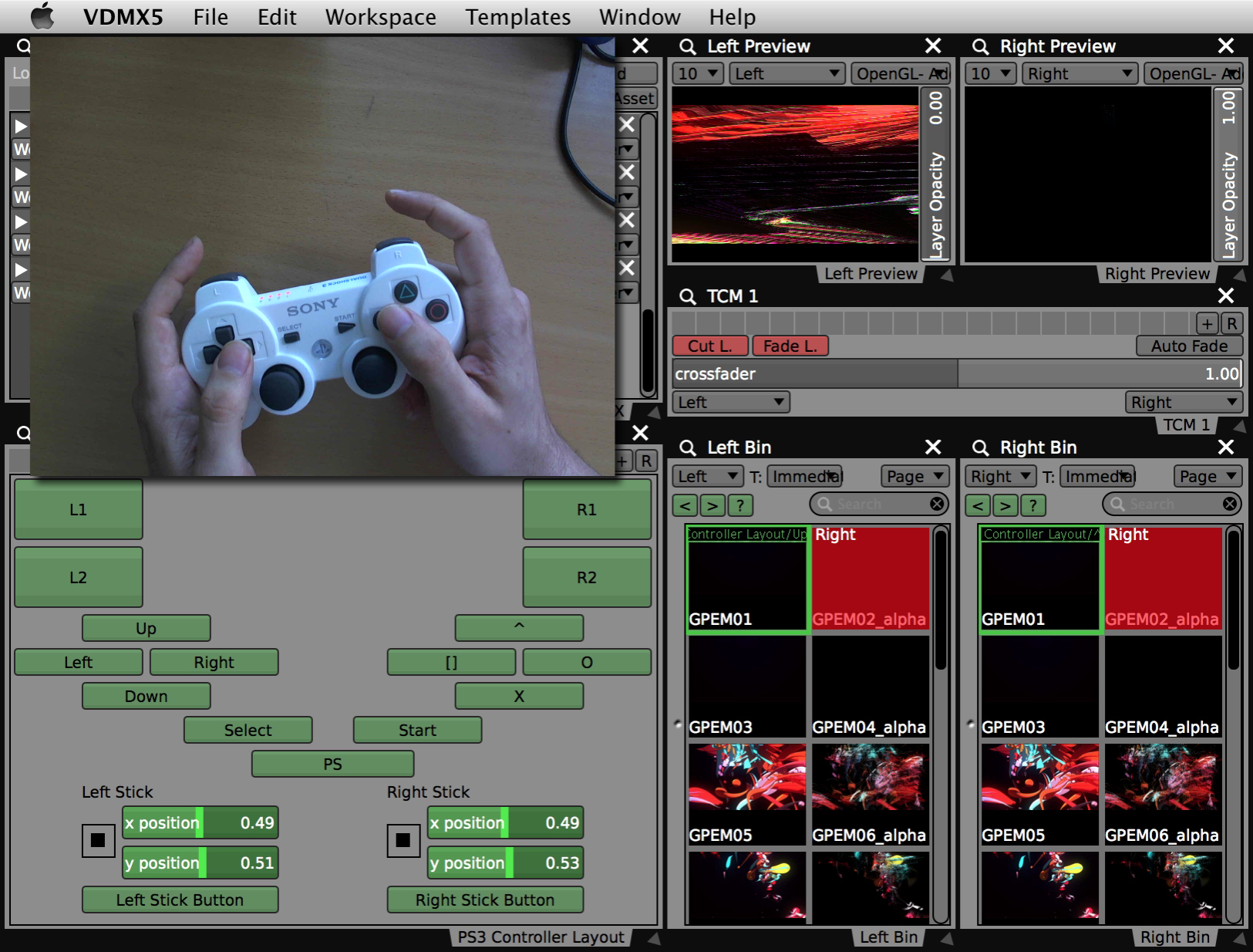 Using a PS3 based HID Controller with VDMX