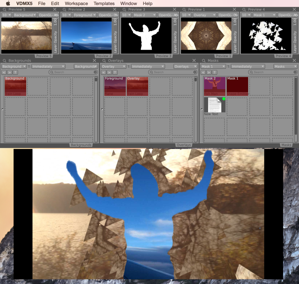 Using Masks and Luma Keys to create a layered composition.