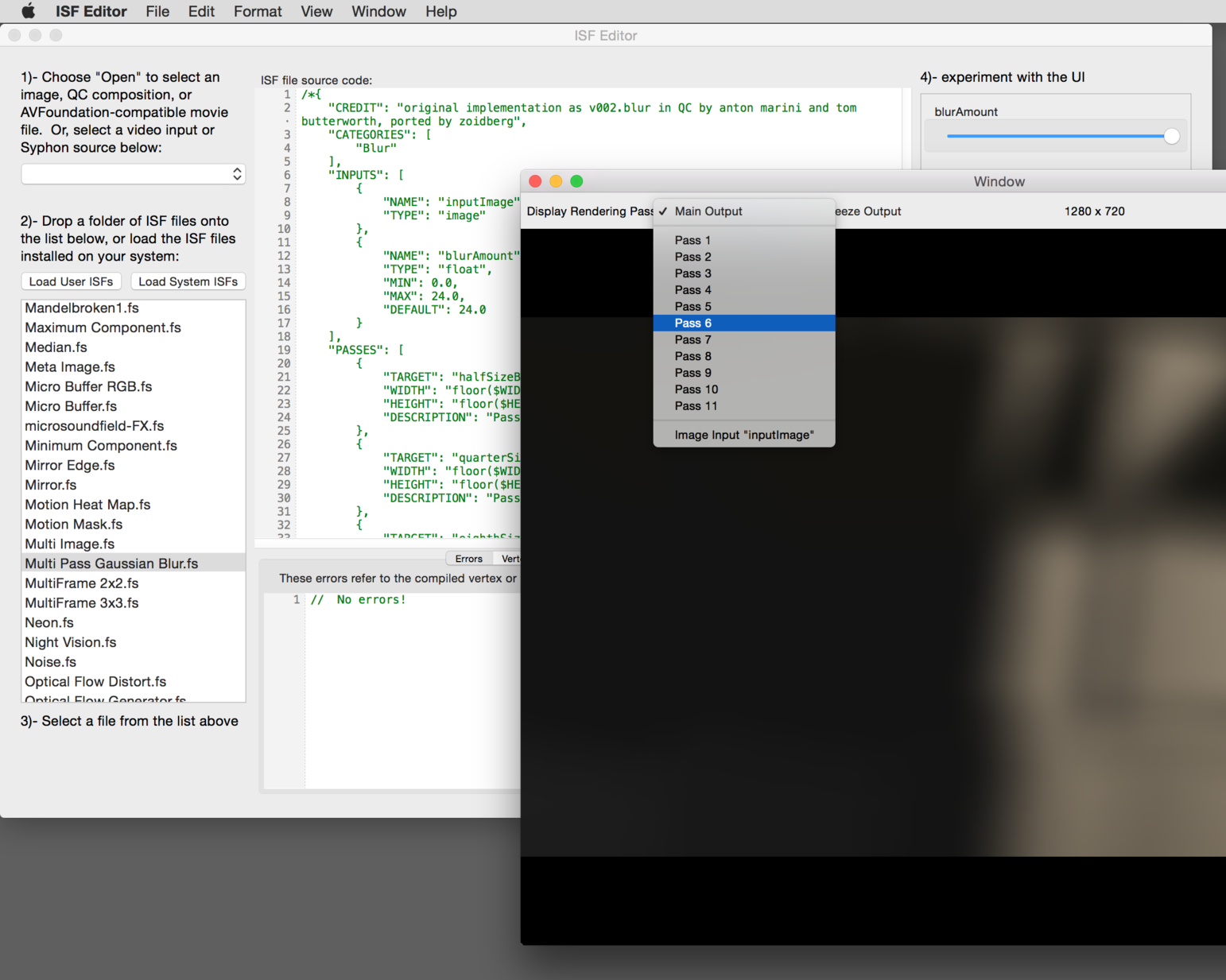 Preview individual render passes in viewer window.