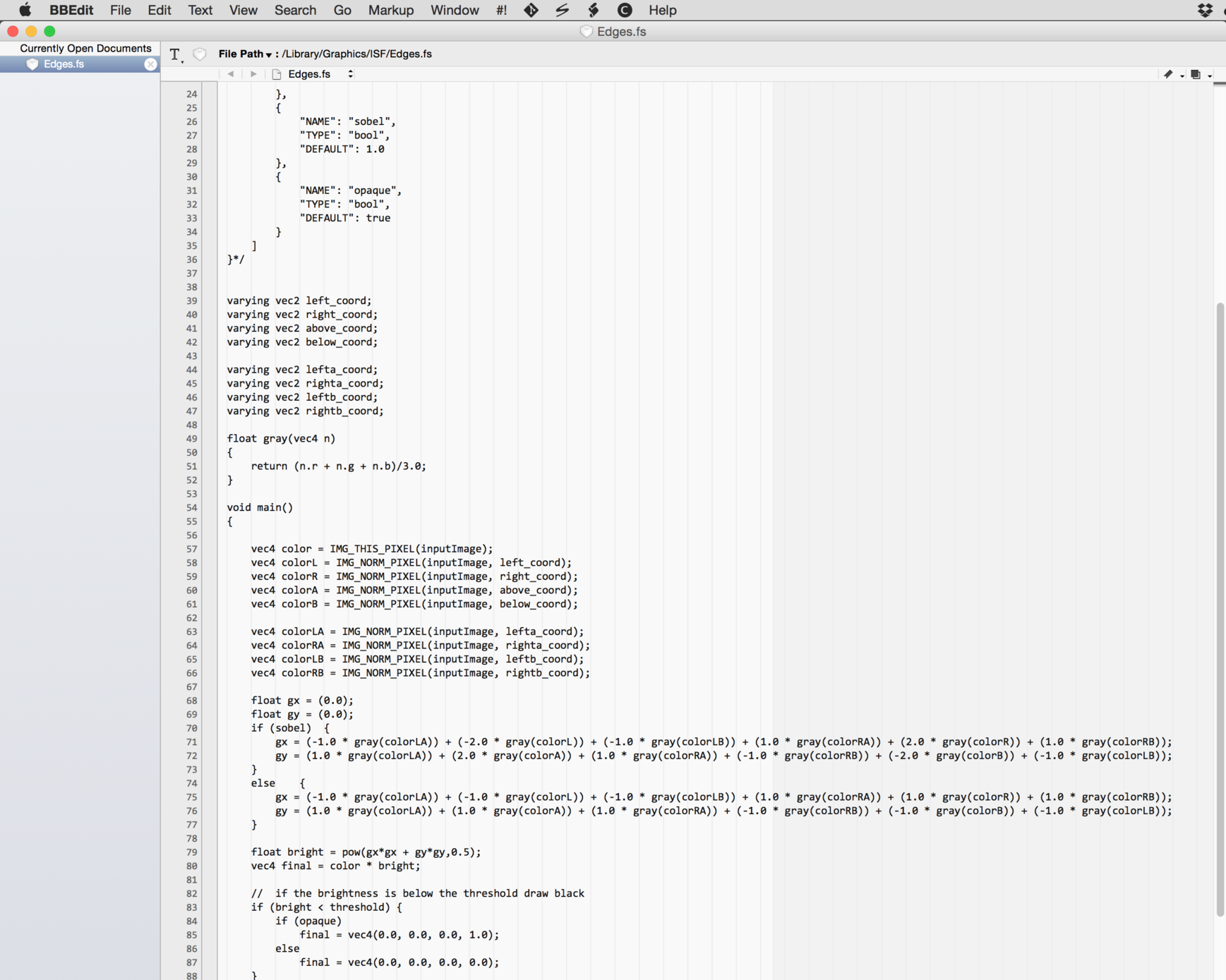 Use any text editor to work with ISF files.