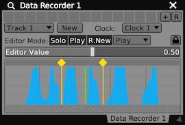 A Data Looper plugin, editing one of its tracks.