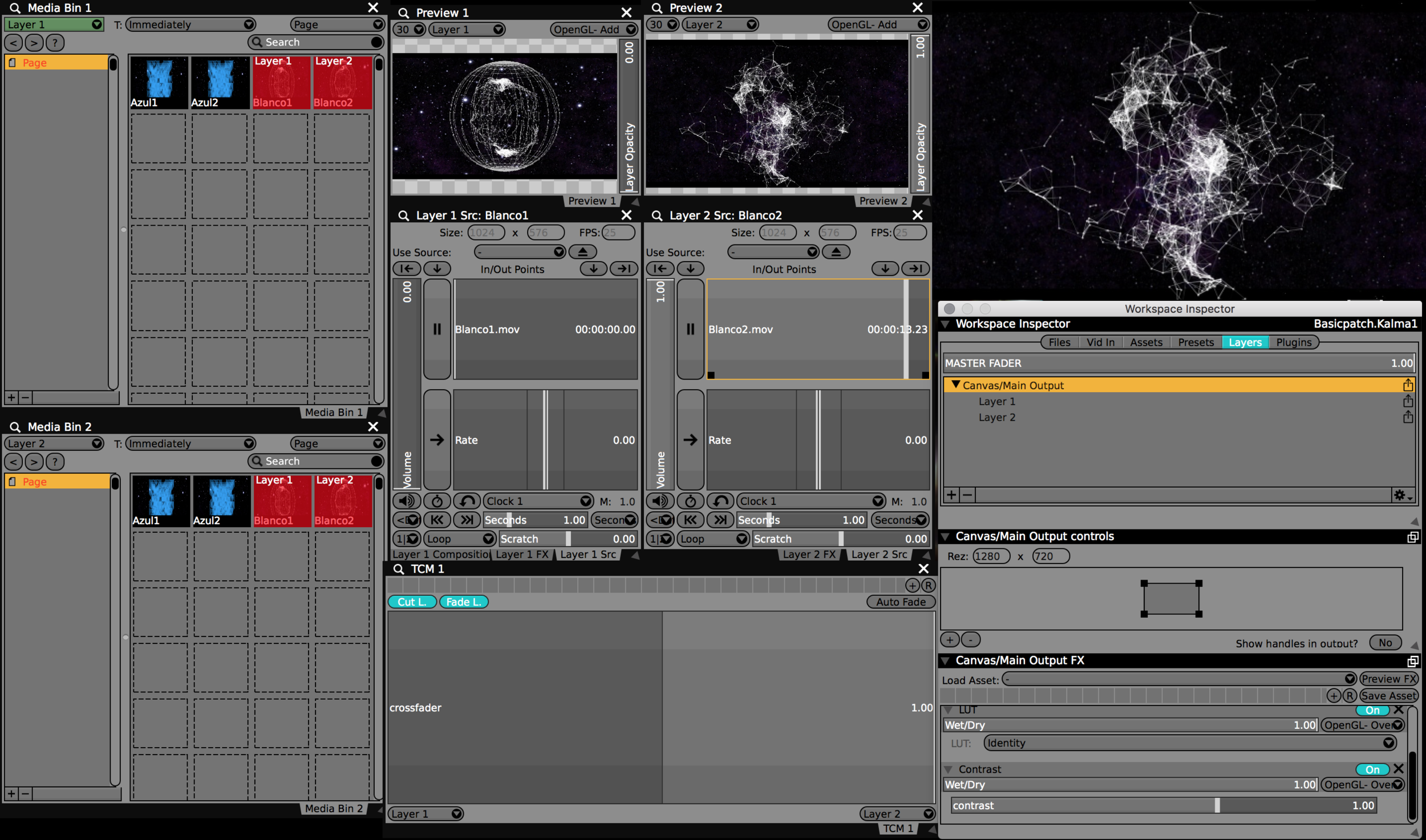 This is the two channel mixer that Kalma will be creating in this tutorial – after this it is time to play!