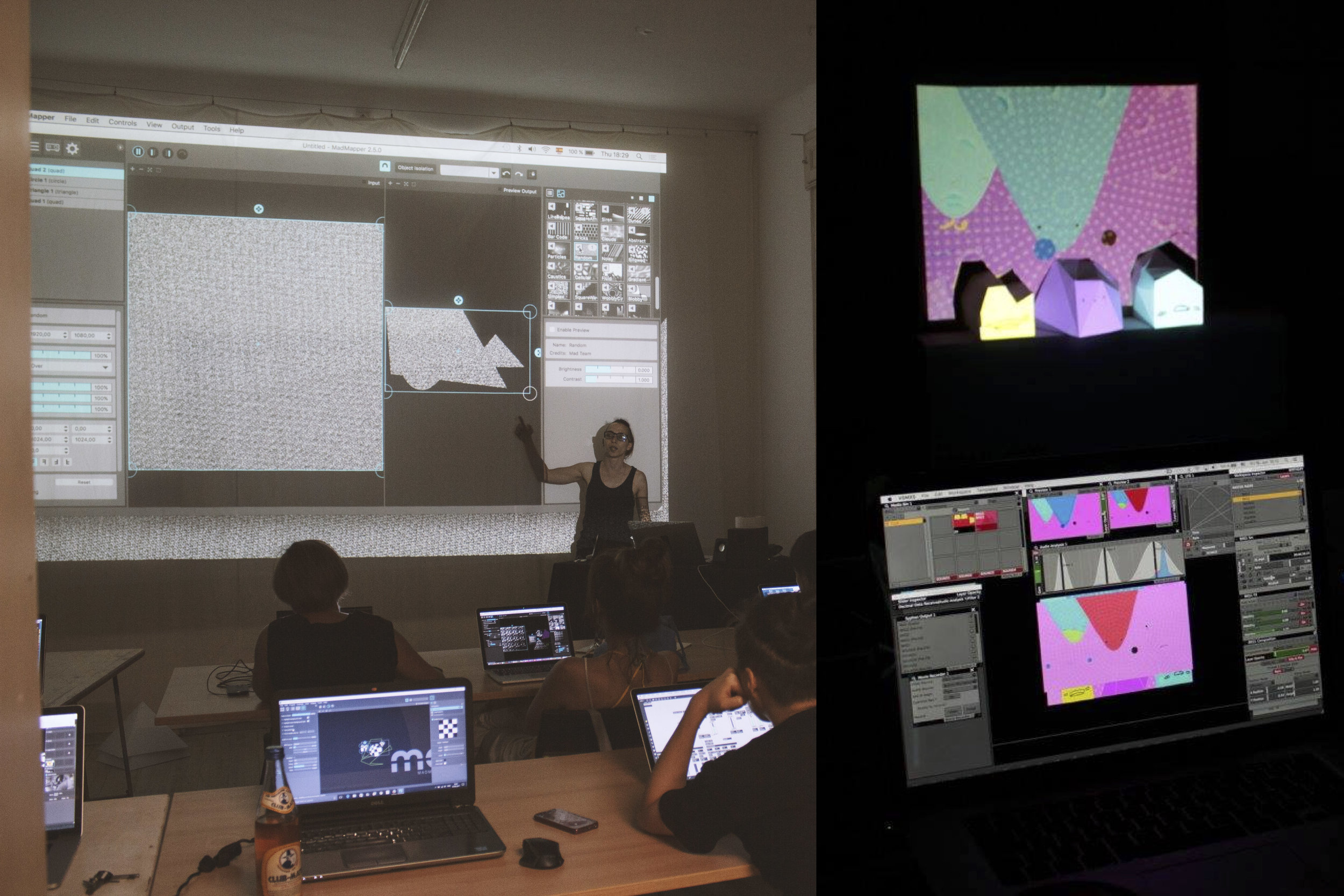 Topics include working with VDMX and Mad Mapper