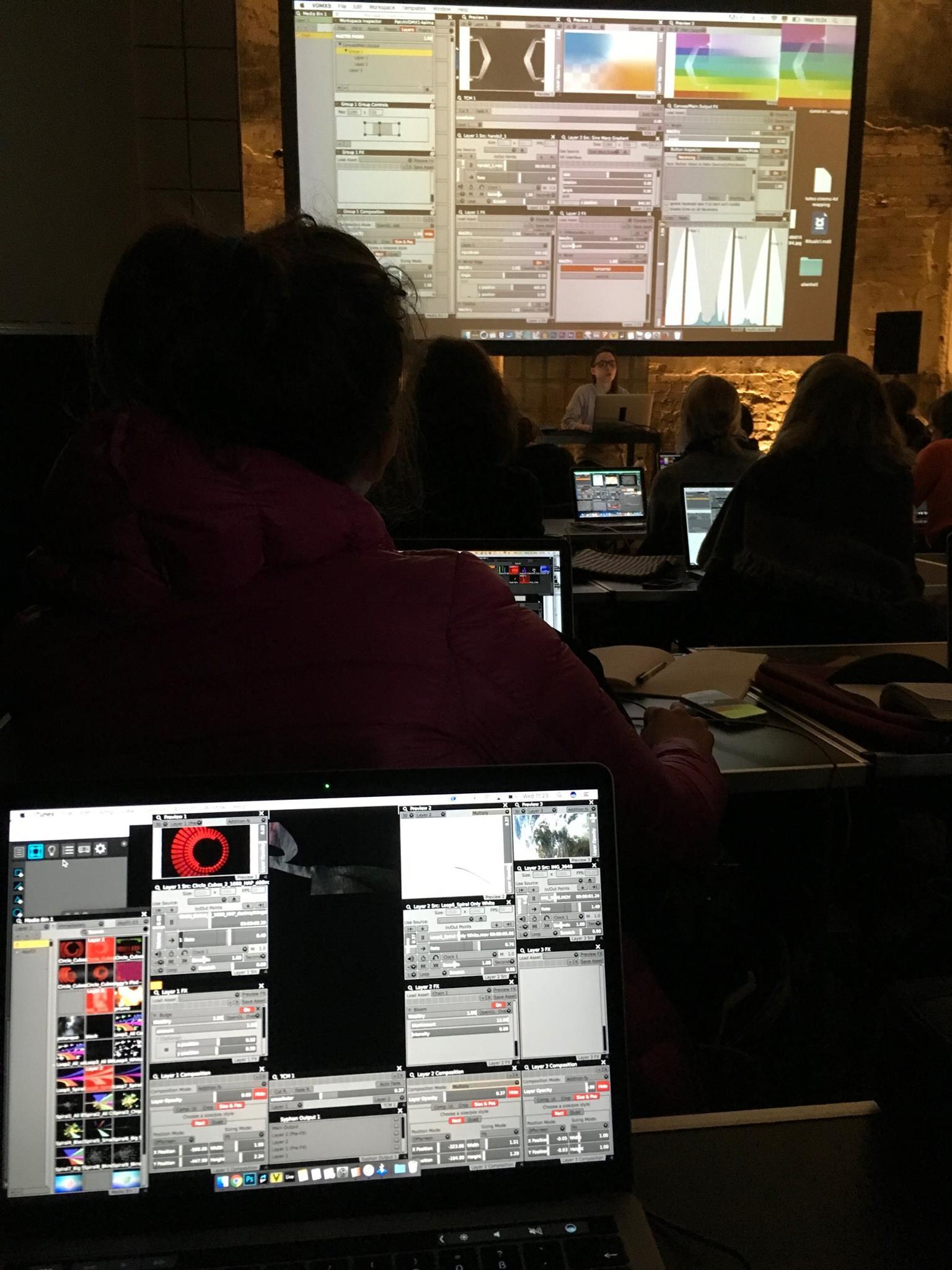 Learning VDMX in Kalma's workshops