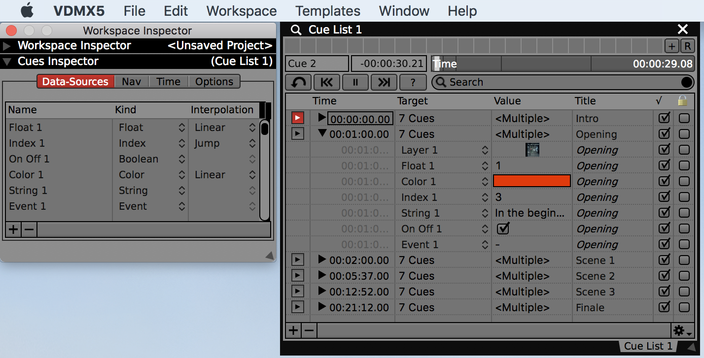 Introduction To The Cue List Plugin — VDMX - MAC VJ SOFTWARE