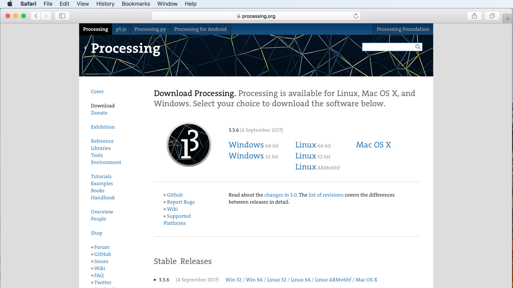 1. Download Processing
