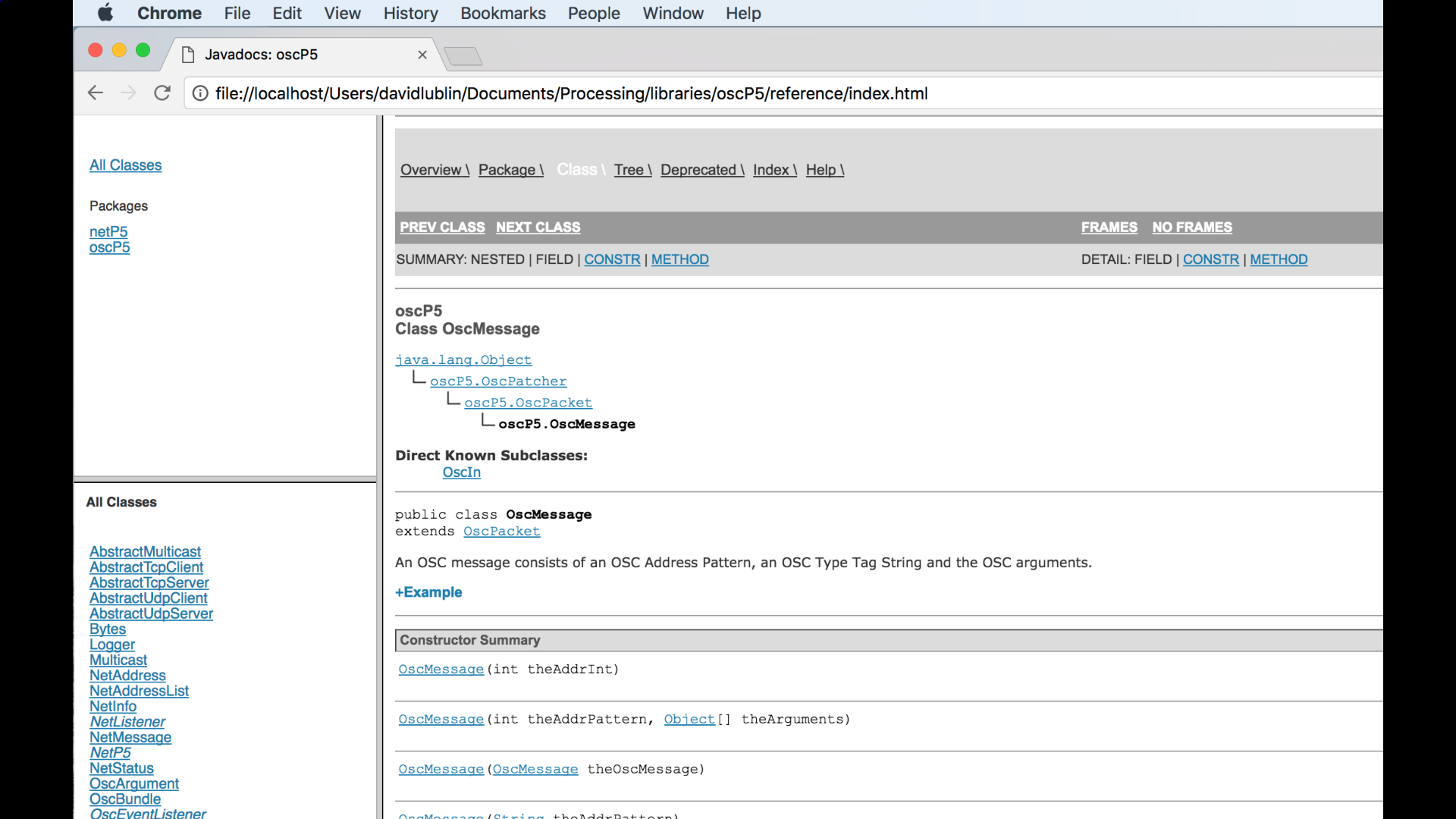 The Processing reference can be accessed from the Help menu and contains detailed information about each library.