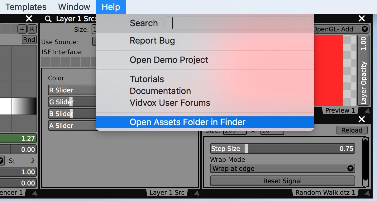 """Use the """"Open Assets Folder in Finder"""" to locate the custom """"plugins"""" folder."""