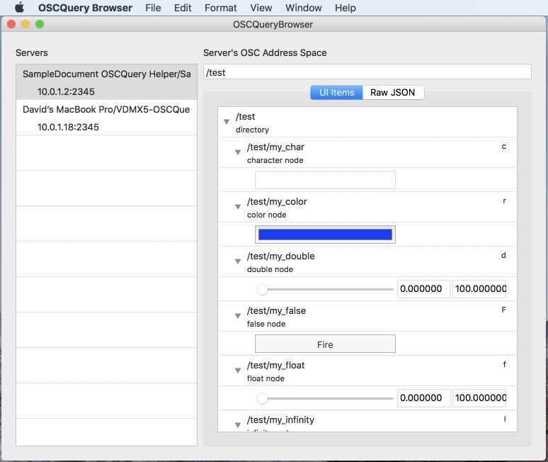 Introducing OSCQuery Protocol — VDMX - MAC VJ SOFTWARE
