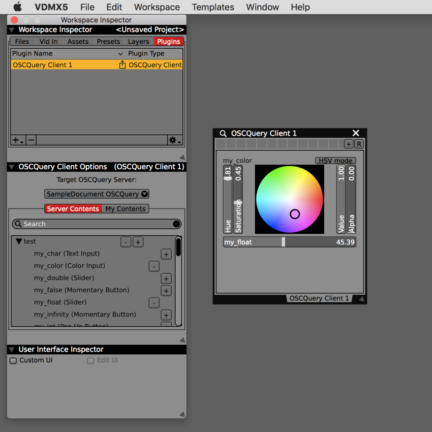 Step 2: Use the UI elements in the main plugin interface to remotely control the parameters of the remote system.