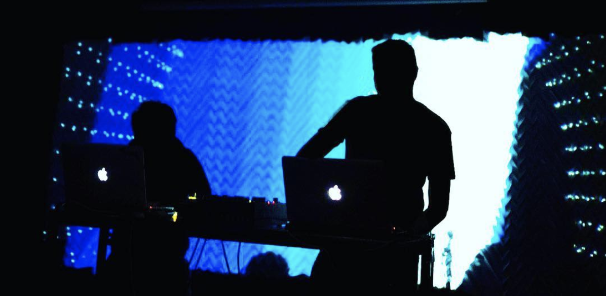 Live coding audio-visual DJ/VJ performance.