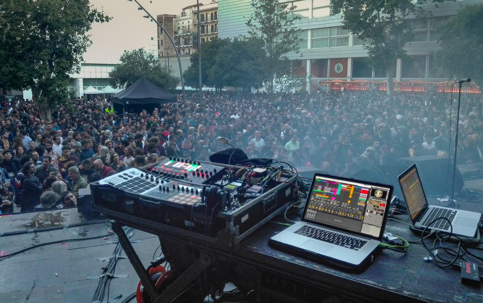 A/V setup with The Suicide Of Western Cutlure - Primavera Sound 2018