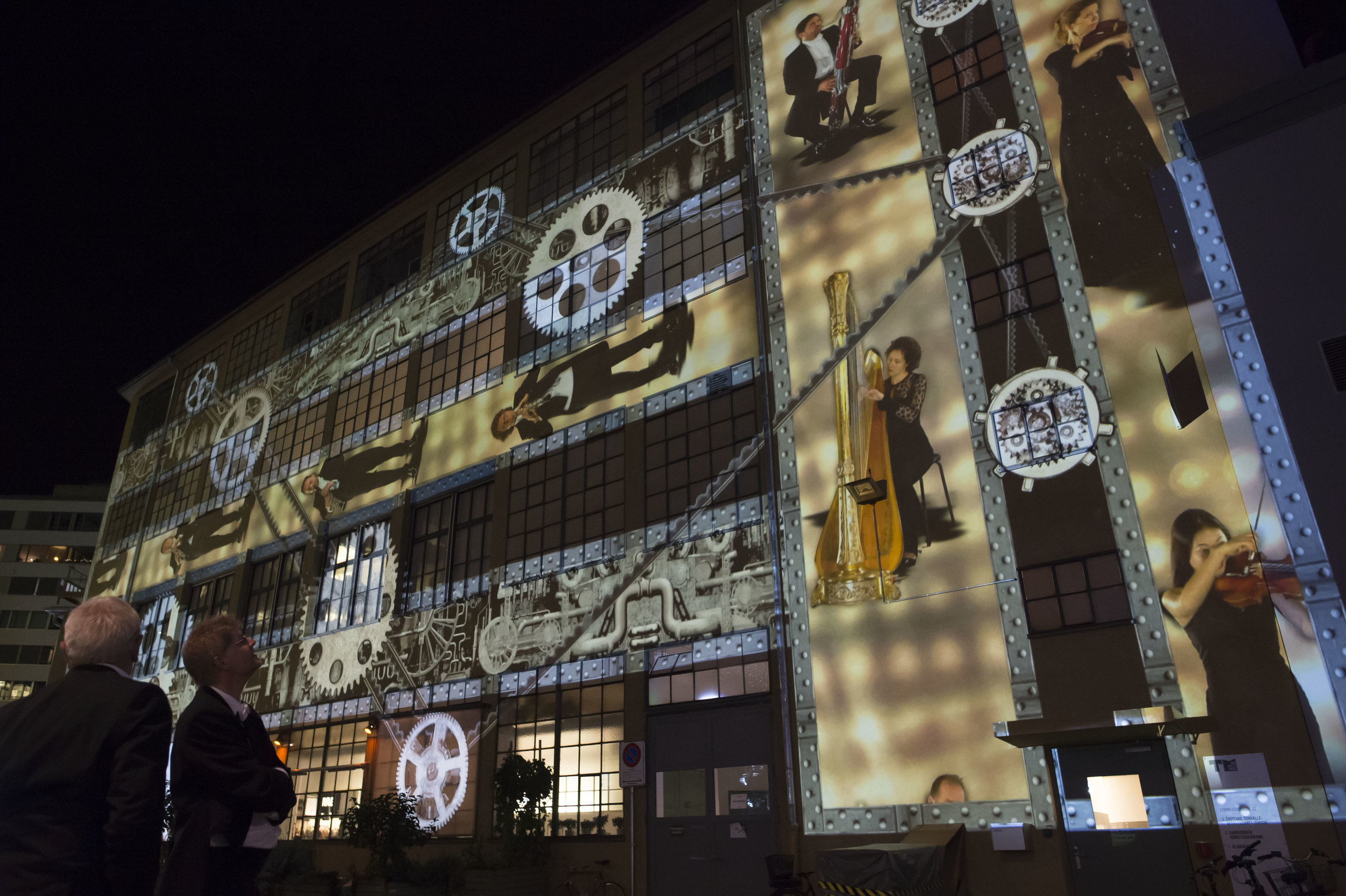Ton im Getriebe , projection mapping