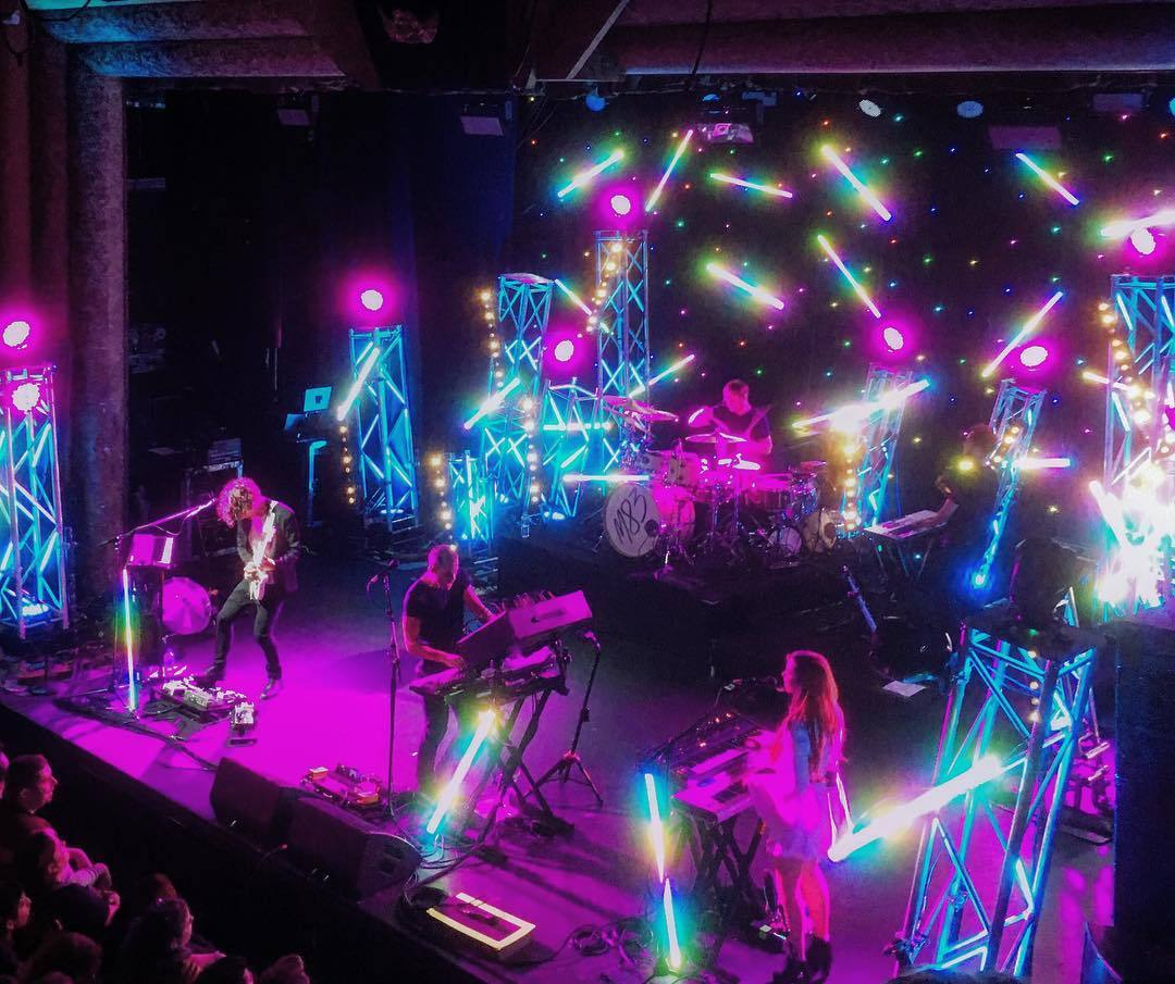 Lighting and visuals for m83 in Brisbane