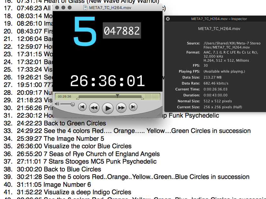 Ref movie with timecode and cue list